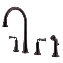 Kitchen Faucet Plumbing Pfister Bellport High Arc 2 Handle Standard Kitchen Faucet In Tuscan Bronze F 031 4bpy The