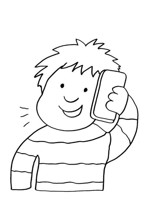 personas conversando para colorear ni 241 o hablando por tel 233 fono dibujo para colorear e imprimir