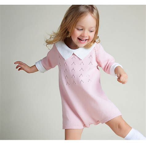 Dress Bobo new 2016 bobo chose dress cotton knit crochet baby