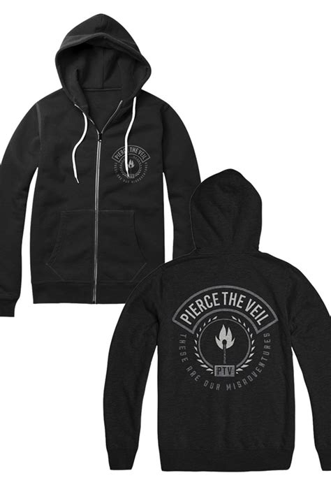 Hoodie Zipper Veil Of Logo Fightmerch matches zip up black outerwear the veil outerwear store on district lines