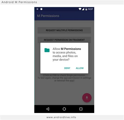 android permission runtime
