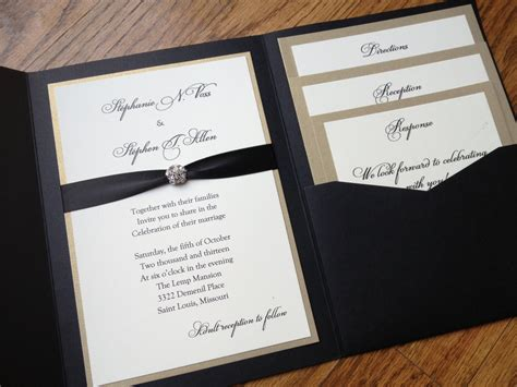Make Wedding Invitations by Exclusive Wedding Invitations With Pockets Theruntime