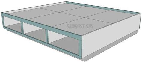 king platform bed plans  drawers plans