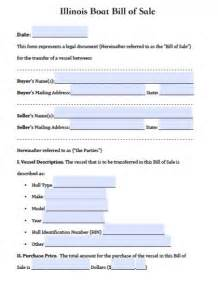 free illinois boat bill of sale form pdf word doc