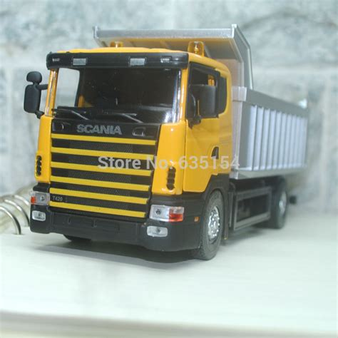Die Cast Truck Series brand new 1 43 scale cool sweden scania series dump truck diecast metal car model for gift