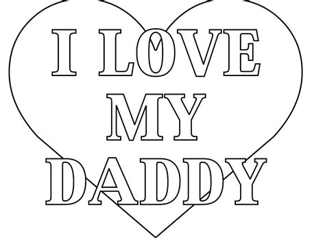 I Love My Daddy Coloring Pages Of Father S Day Coloring I My Coloring Pages