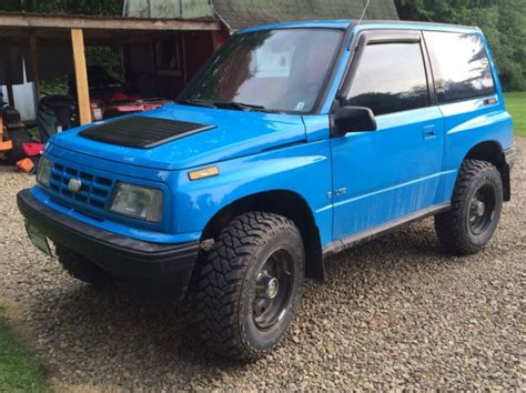 how cars engines work 1994 geo tracker navigation system 1994 geo tracker 4x4 blue rare tin top 5 speed manual for sale photos technical