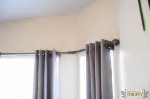 Curtain rod on windows and curtains diy bay window curtain rods corner
