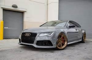 nardo gray audi rs7 adv07r track spec cs series wheels