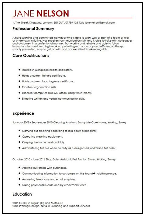 Examples Of Effective Resumes by Simple Cv Sample Myperfectcv