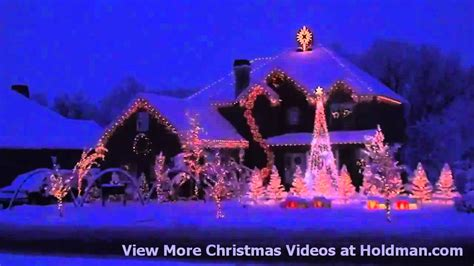 holdman christmas lights amazing grace techno youtube