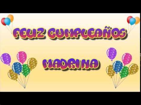 imagenes feliz cumpleaños madrina tarjeta animada de cumplea 241 os para madrina youtube