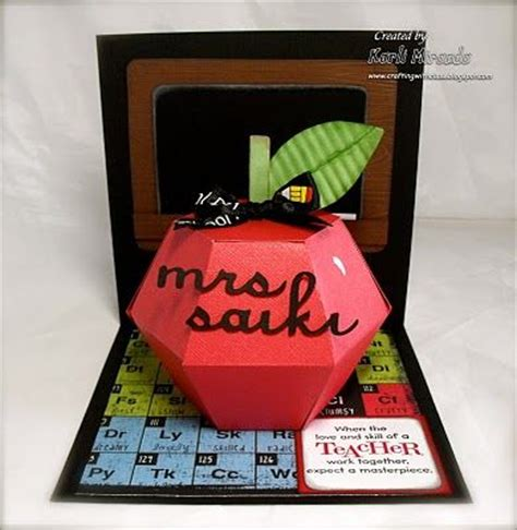 Awesome Pop Up Card For Teachers Cards Invitations