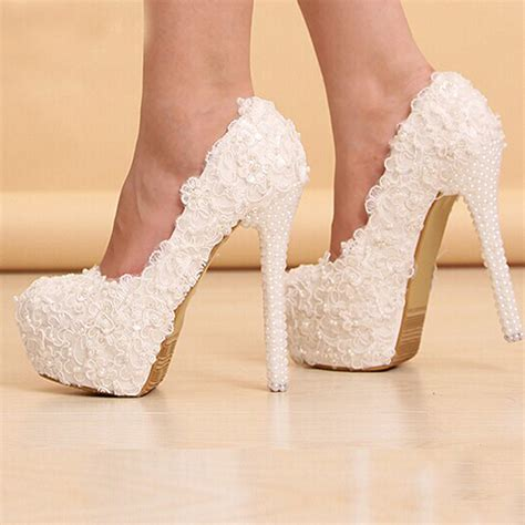 Wedding Dress Heels by Beautiful White Heels Heels Zone
