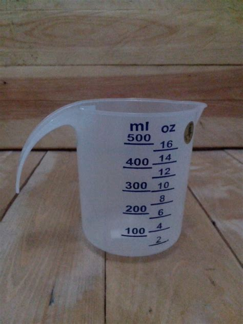 Measure Glass Gelas Ukur Kaca Measuring 1 1 2 Oz 4 Ml jual measuring cup measuring glass gelas ukur gelas takar plastik 500 ml aneka retail