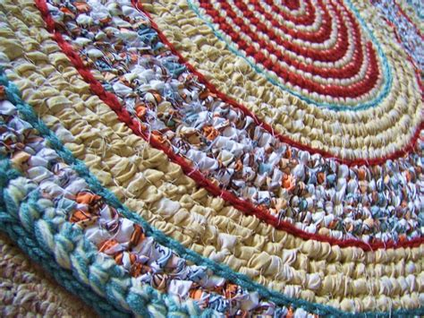 crochet a rag rug crochet rag rug toothbrush woven rug non skid backing mixed media rug