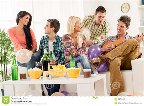 friends at house stock photo image 54751085