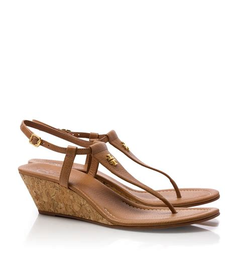 burch sandals wedge burch britton wedge sandal in brown lyst