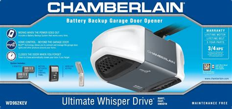 Chamberlain Whisper Drive Garage Door Opener Troubleshooting by Chamberlain Wd962kev Review