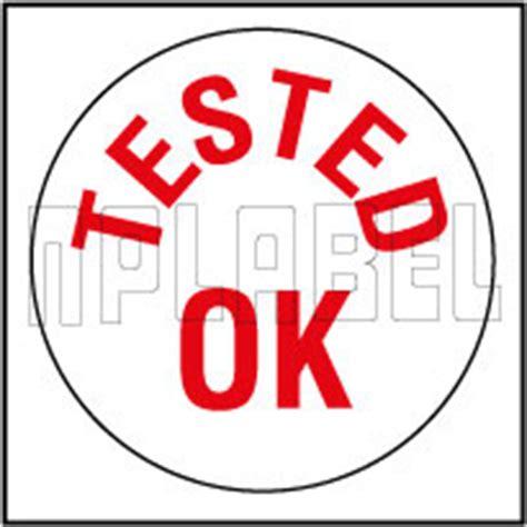 Inspected Ok Sticker Stiker Inspected ok tested qc stickers manufacturer