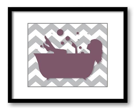 plum bathroom decor bathroom decor bathroom print plum purple grey gray girl with