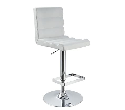 modern white bar stools dreamfurniture com t1066 eco leather contemporary bar white stool