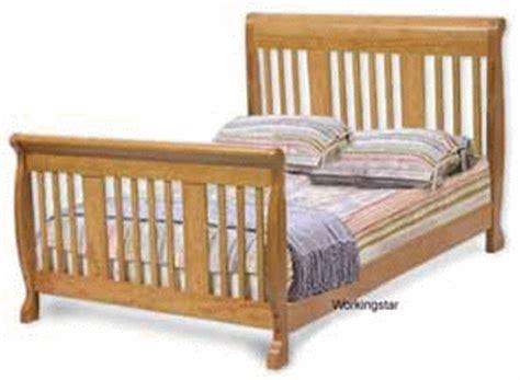 Nursery Convertible Sleigh Bed Crib Furniture Plans Ebay Convertible Crib Plans