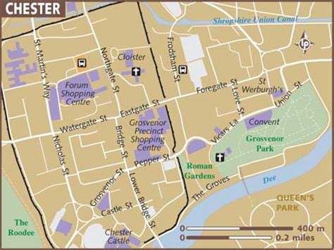 map uk chester map of chester