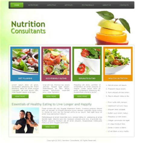 wordpress themes nutrition free joomla template wordpress theme and other website templates