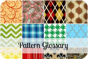 fabric pattern names list glossary of design terminology choosing a pattern