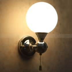 Pull Chain Wall Sconce Pull Chain Switch Chrome Finish Wall Sconce With White Globe Shade Dressale Decorating
