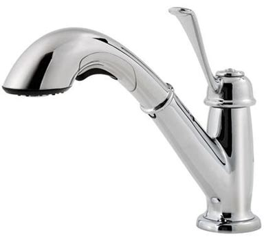 price pfister pull out kitchen faucet pfister f 538 5lcs bixby single pull out kitchen faucet stainless steel faucetdepot