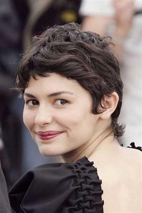 short pixie haircuts for curly hair 2015 20 collection of audrey tautou short haircuts