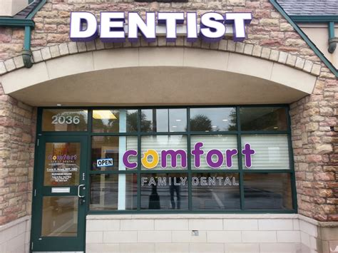 comfort family dental custom sign gallery signs signs signs inc