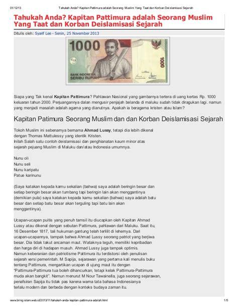 biografi kapitan pattimurah kapitan pattimura