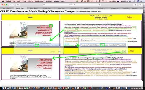 javascript tutorial interactive css 3d transformation matrix making of interactive