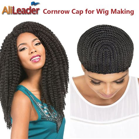 wigs made for black people that are braided alileader products crochet braid wig caps 5pcs lot cornrow