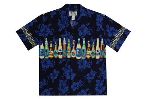 aloha shirt ky s s blue aloha shirts with bottles
