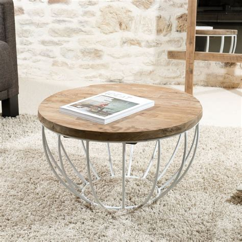 Table Basse Ronde Blanche 3272 by Table Basse Ronde Blanche 60x60cm Tinesixe