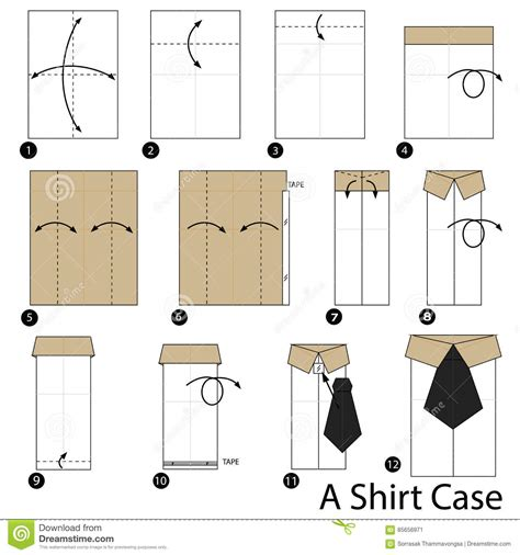 How To Make An Origami Shirt - step by step how to make origami a shirt
