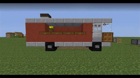 minecraft truck how to a food truck car in minecraft easy