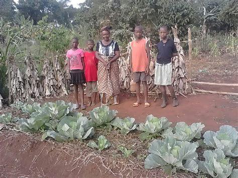Family Vegetable Garden Better Lives Helping Children Kikondo Ug Grandmother