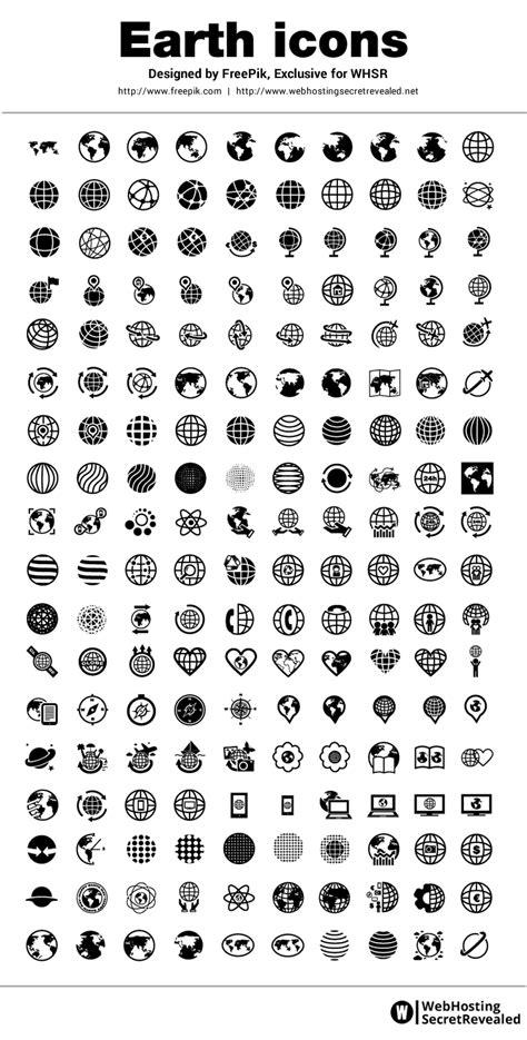 freepik earth icons   minimalist designed icons