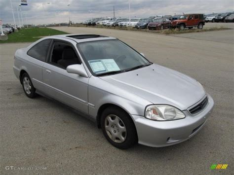 2000 honda civic ex vogue silver metallic 2000 honda civic ex coupe exterior