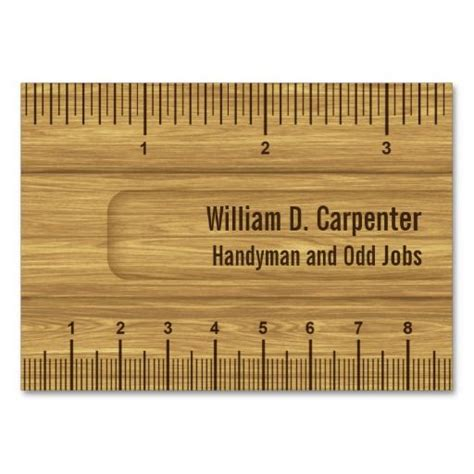 ruler business card template 302 best images about carpenter business cards on