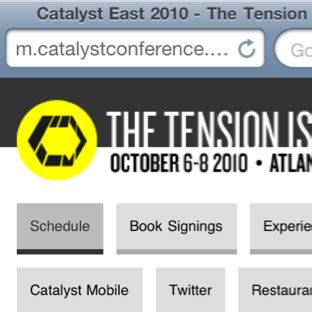 m mobile site catalyst conference s mobile site churchmag