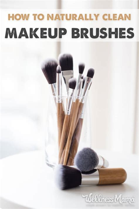 how to clean makeup brushes naturally without chemicals