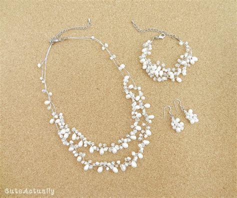 Brautschmuck Ohrringe Perlen by Set Wei 223 E S 252 223 Wasser Perlen Kette Armband Ohrring