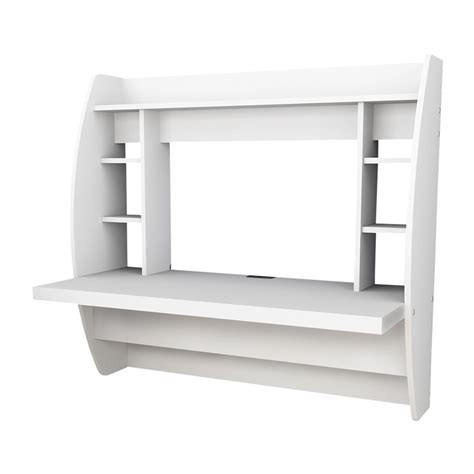 white desk canada prepac furniture hw 0200 1 floating desk with storage
