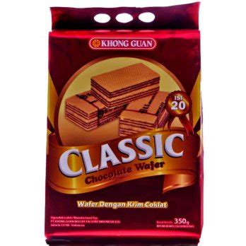 Wafer 350 Gram khong guan chocolate wafer classic 350 gram elevenia
